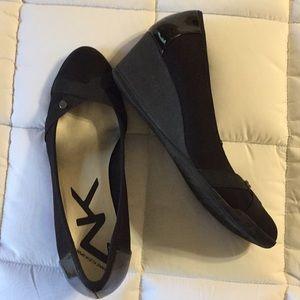 Anne Klein Sport black wedges